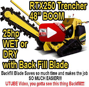 Rtx250 Trenceher Wet or Dry