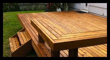 An awesome square floating deck for your backyard.