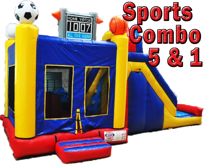 5 n 1 Sports Combo Bounce House