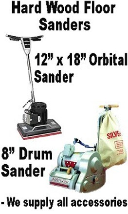 We have floor equipment including Hard Wood Floor Sanders Orbital or Belt driven for just about every job possible. Call us Today.