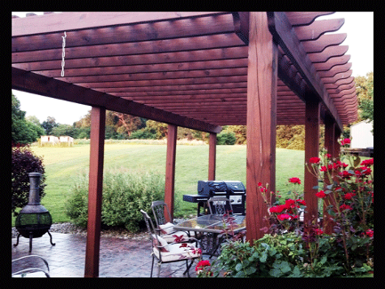 A design of a Pergola in the front yard that will set off the surroundings amazingly!
