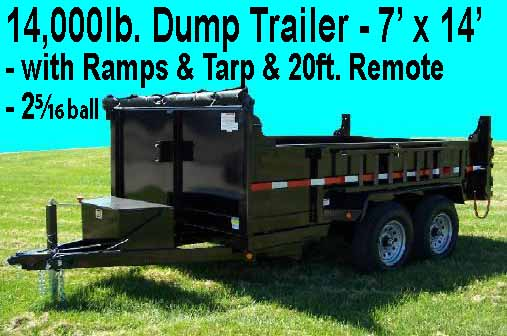 At Grand Rental we rent items like dump trailers or skid steers or excavators and backhoes.