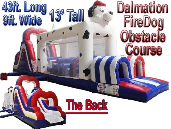 Dalmatian Fire Dog Inflatable Bounce House Rental in Southern Indiana and Louisville, KY